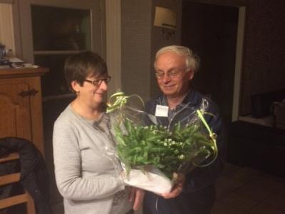 Pas gestart en we feesten verder met de viering van een 65 jarig bestuurlid Jenny Moubax