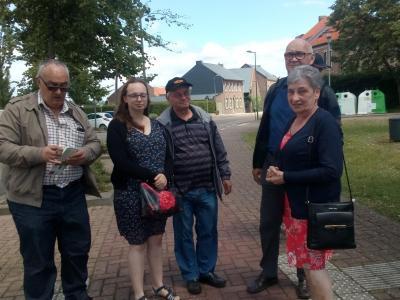 Klaar voor de wandeling in Vissenaken 8 km