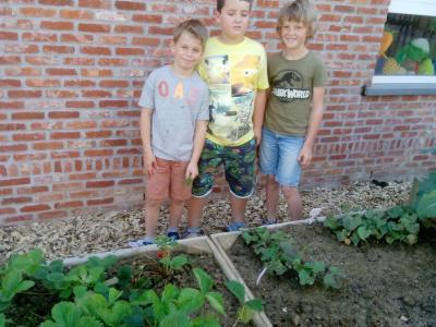 de 3 toekomstige tuinniers